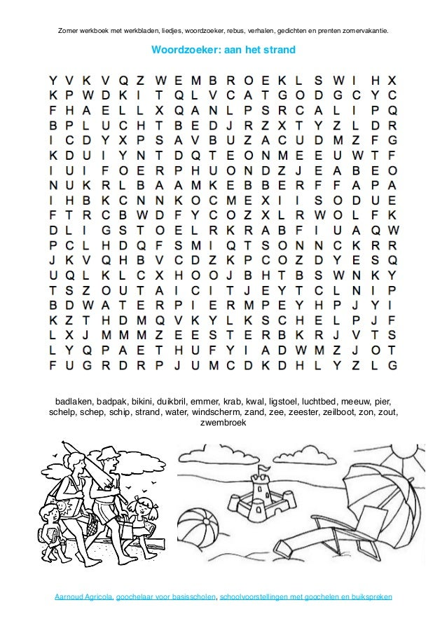 Zomer Werkboek Van Basischool Goochelaar Aarnoud Agricola