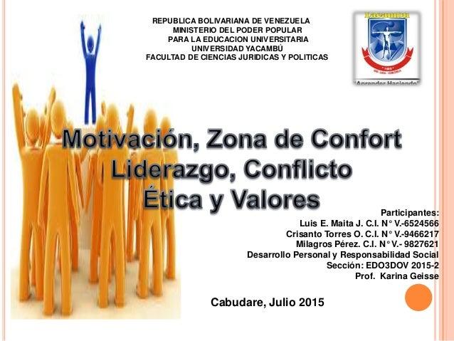 REPUBLICA BOLIVARIANA DE VENEZUELA MINISTERIO DEL PODER POPULAR PARA LA EDUCACION UNIVERSITARIA UNIVERSIDAD YACAMBÚ FACULT...