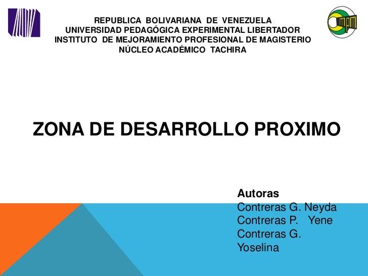 REPUBLICA BOLIVARIANA DE VENEZUELA    UNIVERSIDAD PEDAGÓGICA EXPERIMENTAL LIBERTADOR INSTITUTO DE MEJORAMIENTO PROFESIONAL...