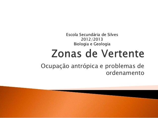 Ocupação antrópica e problemas deordenamentoEscola Secundária de Silves2012/2013Biologia e Geologia