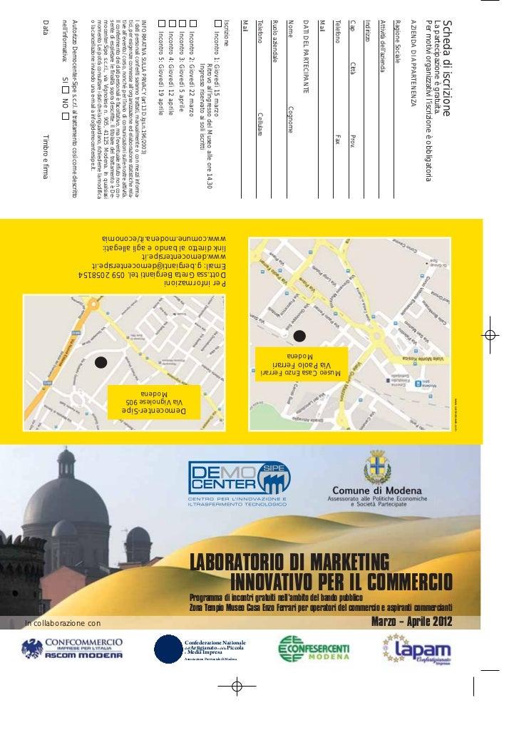 Laboratorio Marketing Innovativo Commercio