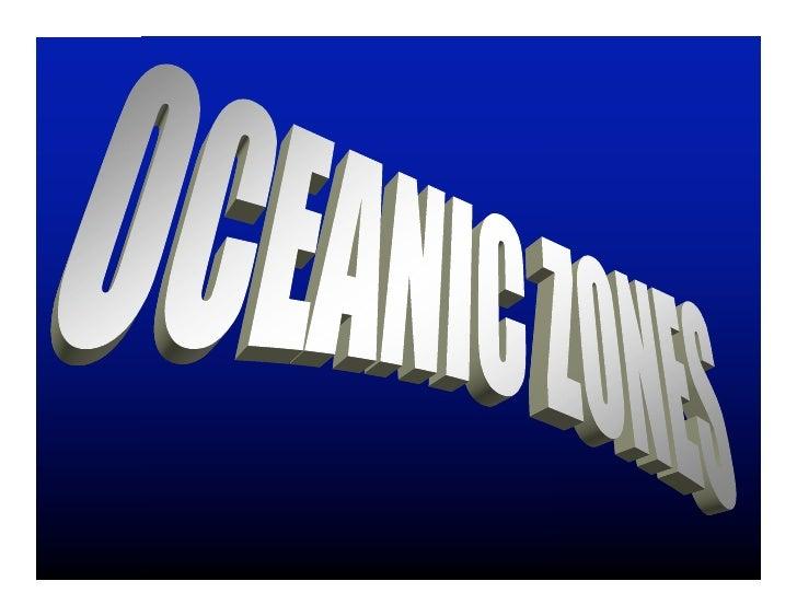 Oceanic Zones And Trophic Levels