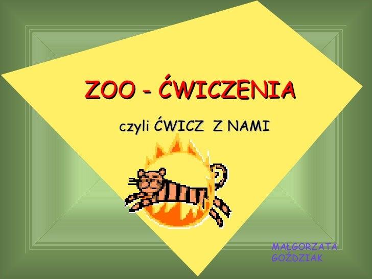 Zoo -ćwiczenia