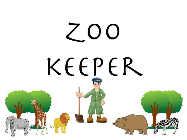 Coloring Page Zookeeper