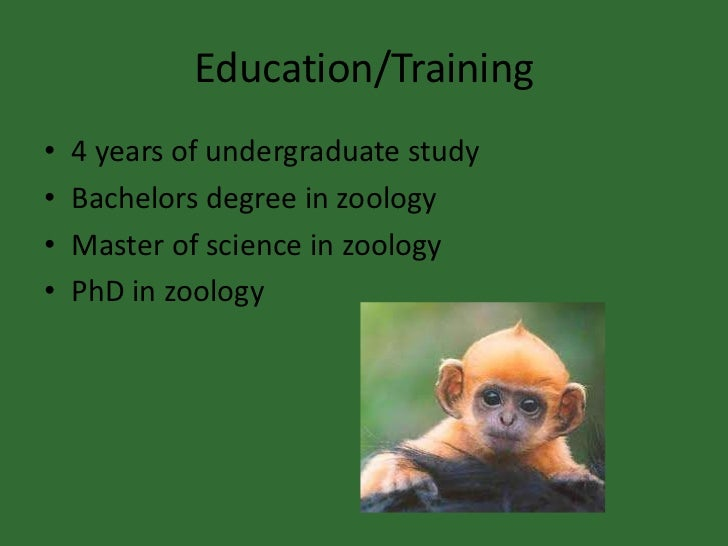 For those that already have a degree in zoology?