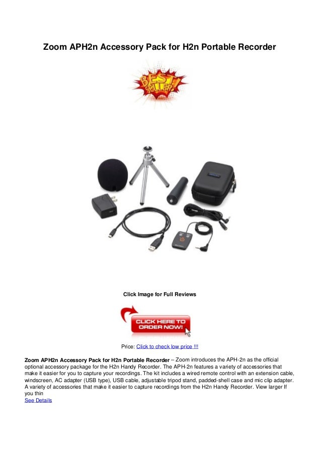 Zoom aph2n accessory_pack_for_h2n_portable_recorder