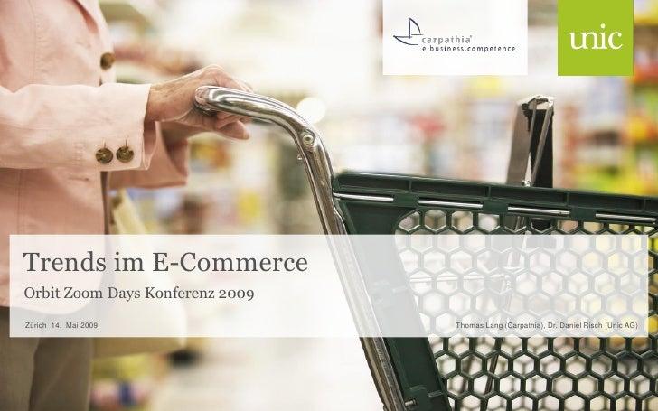 Orbit Zoom Days - Trends im E-Commerce