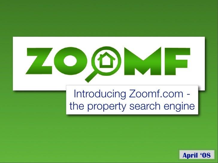 Zoomf Presentation (Zoomf Seminar 24/04/08)