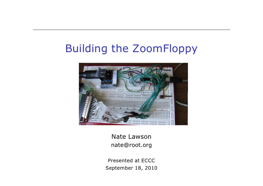 Building the ZoomFloppy (ECCC 2010)