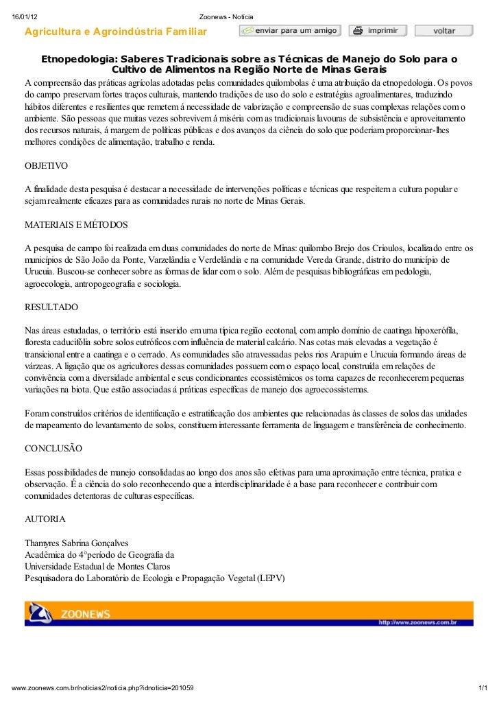 16/01/12                                                    Zoonews - Not cia    Agricultura e Agroind stria Familiar     ...