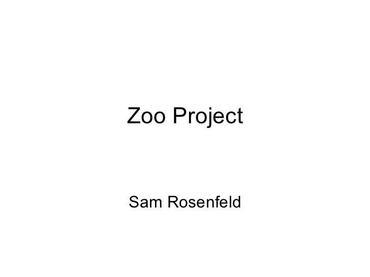 Zoo project power point