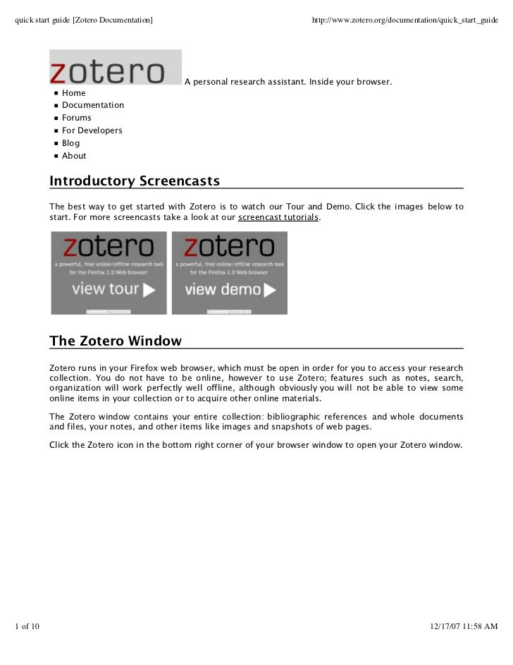 quick start guide [Zotero Documentation]                                  http://www.zotero.org/documentation/quick_start_...