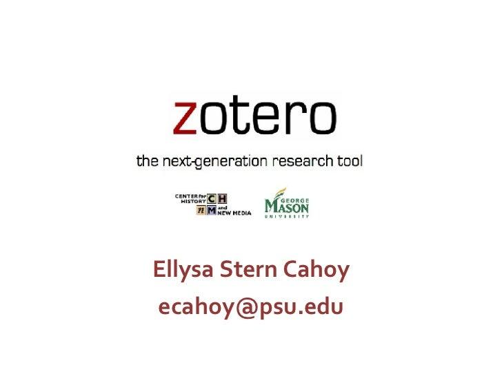 Ellysa Stern Cahoy [email_address]