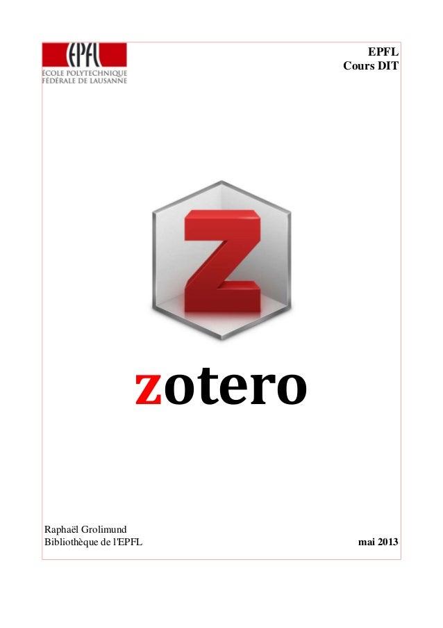 Zotero: un gestionnaire bibliographique libre
