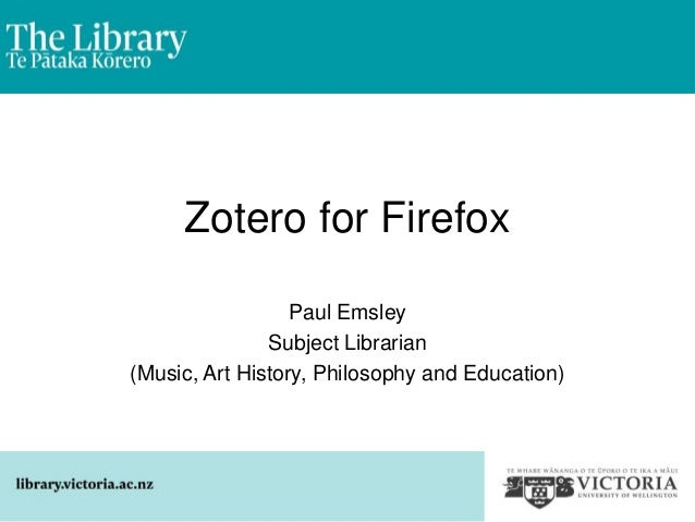Zotero-4-firefox