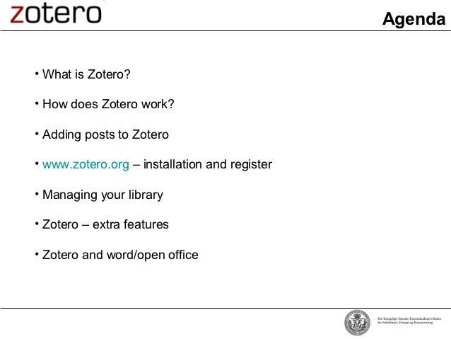 Zotero præsentation