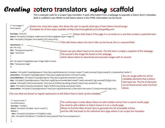 Zotero translators handout