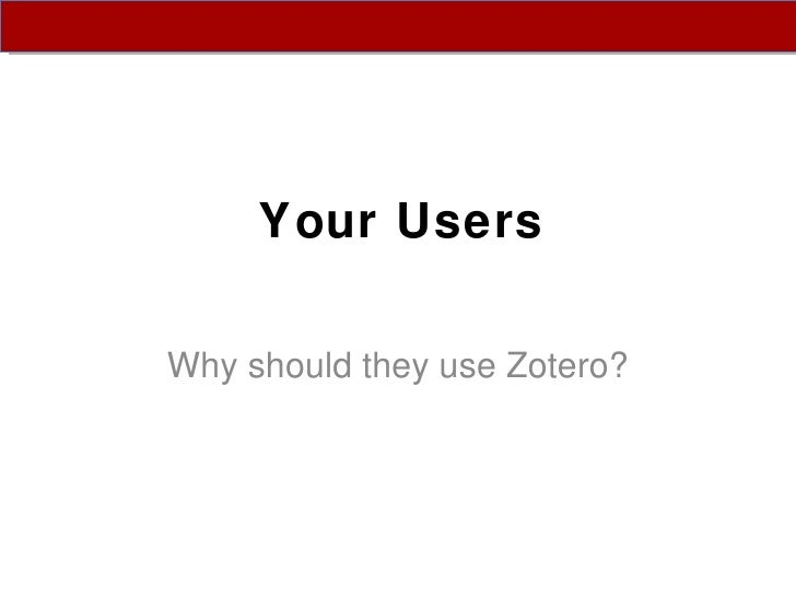 Zotero workshop slides