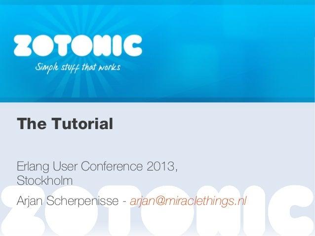 Zotonic tutorial EUC 2013