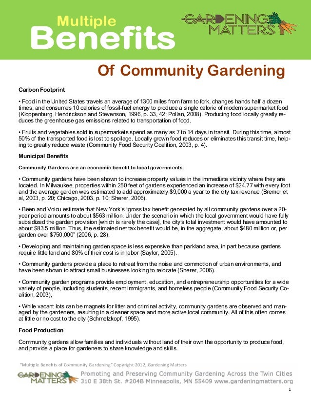 Multiple Benefits of School Gardening