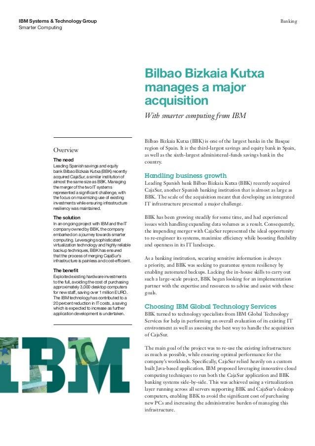 Bilbao Bizkaia Kutxa manages a major acquisition