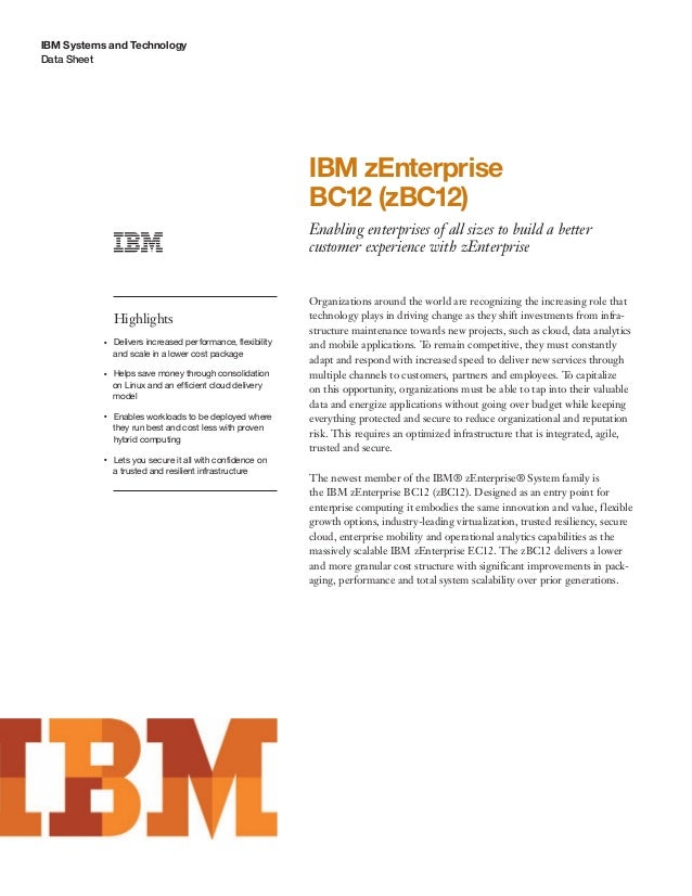 IBM zEnterprise BC12 (zBC12)
