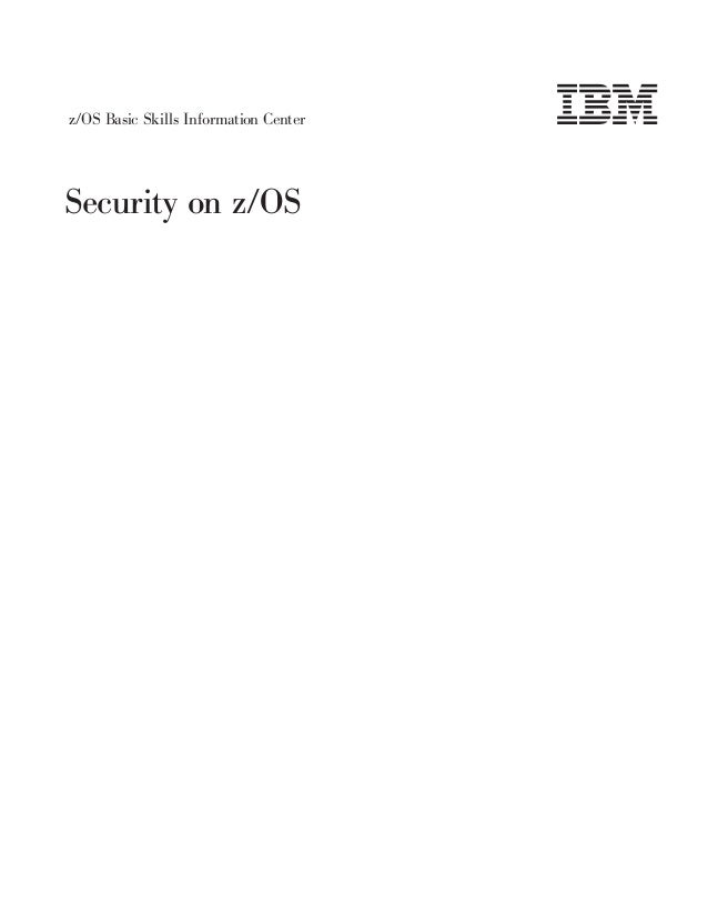 Security on z/OS