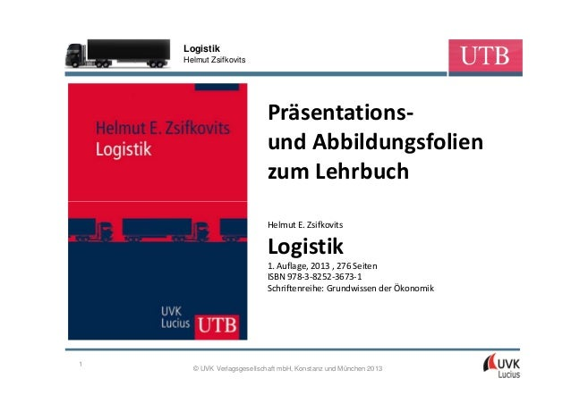 Logistik    Helmut Zsifkovits                           Präsentations-                           und Abbildungsfolien     ...