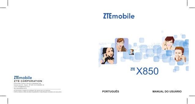 ZTE X850Manual do Usuário
