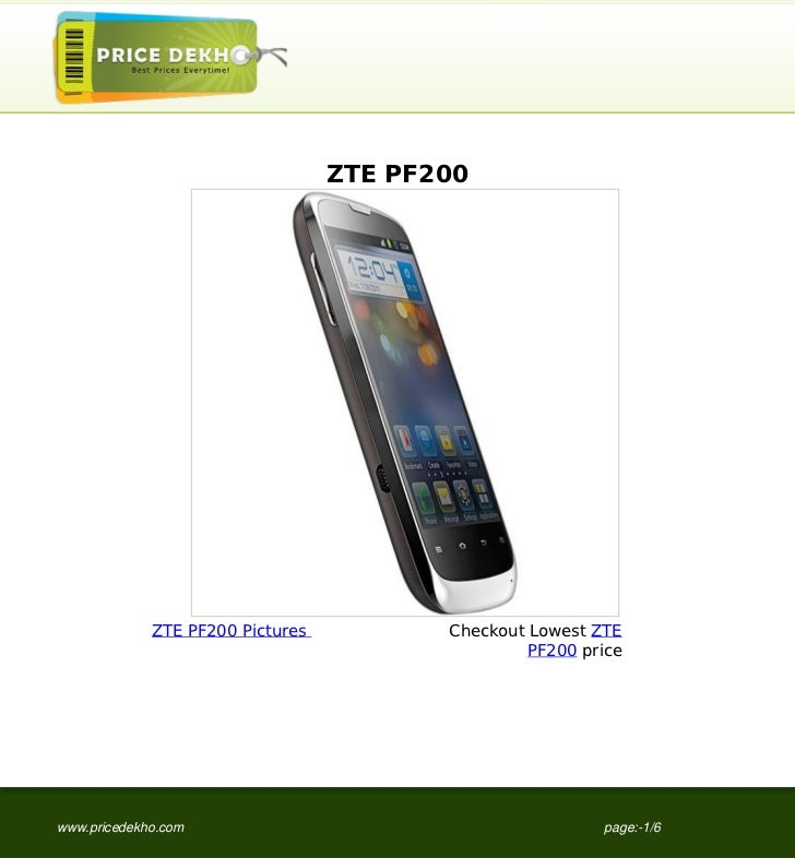ZTE PF200 specification