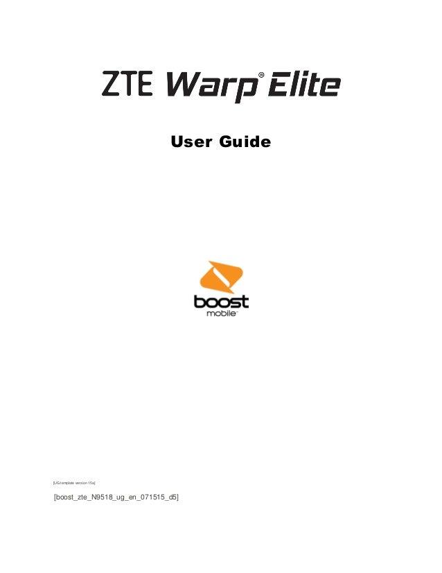 zte warp elite user manual System sounds