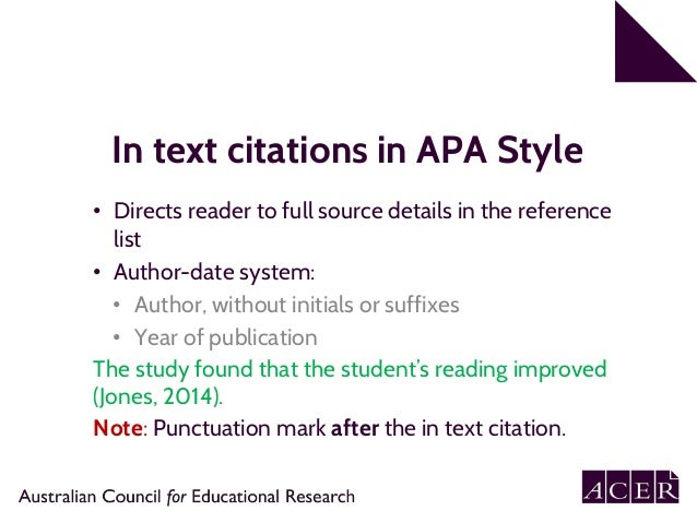 How to cite apa in paper