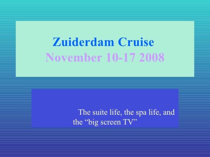 Zuiderdam Cruise Email