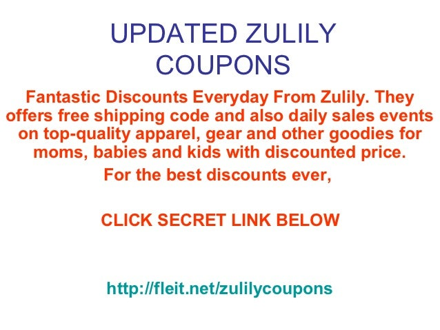 Zulily coupon code 2018