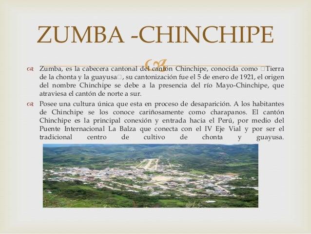 """ZUMBA -CHINCHIPE           Zumba, es la cabecera cantonal del cantón Chinchipe, conocida como """" Tierra  de la chonta y l..."""