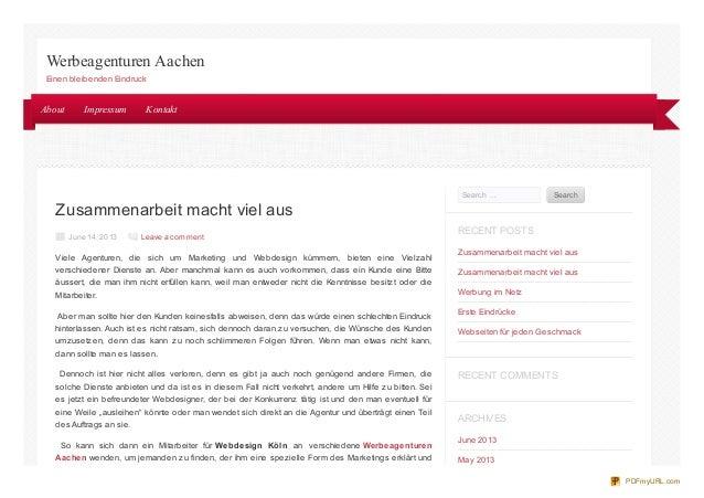 Zusammenarbeit macht viel ausJune 14, 2013 Leave a commentViele Agenturen, die sich um Marketing und Webdesign kümmern, bi...