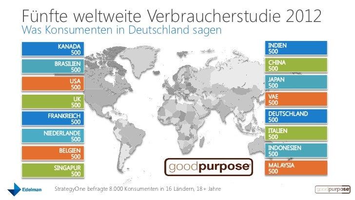 Zusammenfassung Ergebnisse der 5. Edelman goodpurpose Studie 2012