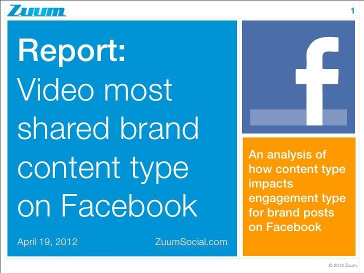 1Report:Video mostshared brand                                  An analysis ofcontent type                      how conten...