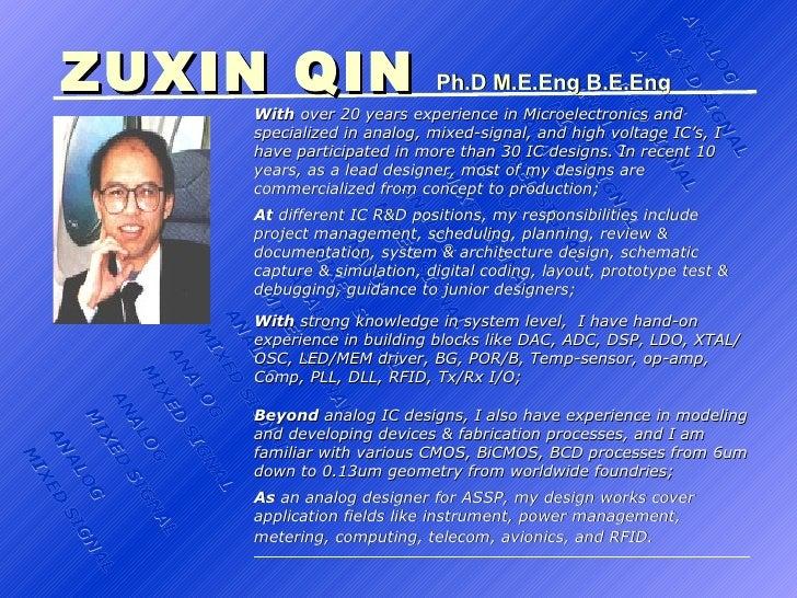 ZUXIN QIN   Ph.D ANALOG MIXED SIGNAL ANALOG MIXED SIGNAL ANALOG MIXED SIGNAL ANALOG MIXED SIGNAL ANALOG MIXED SIGNAL ANALO...