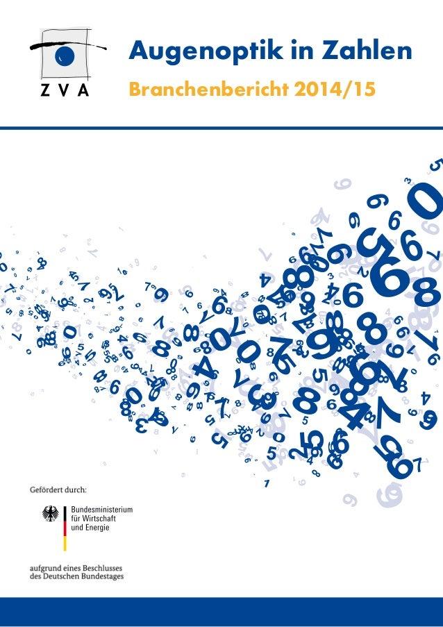 Augenoptik in Zahlen Branchenbericht 2014/15