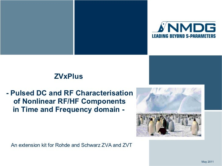 ZVxPlus- Pulsed DC and RF Characterisation   of Nonlinear RF/HF Components  in Time and Frequency domain - An extension ki...