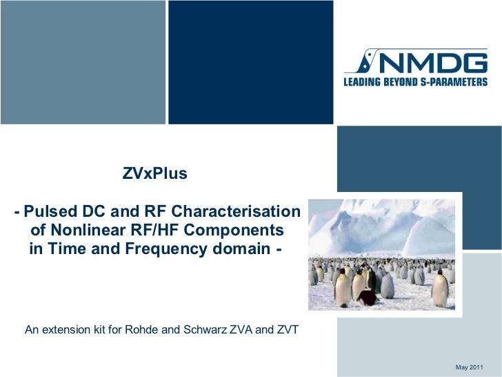 ZVxPlus Presentation: Pulsed DC & RF Characterization