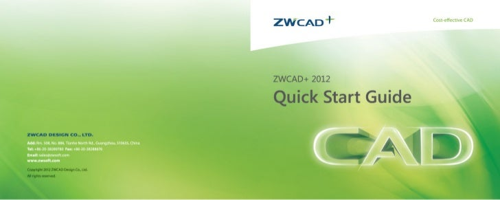 Zwcad+ quick guide