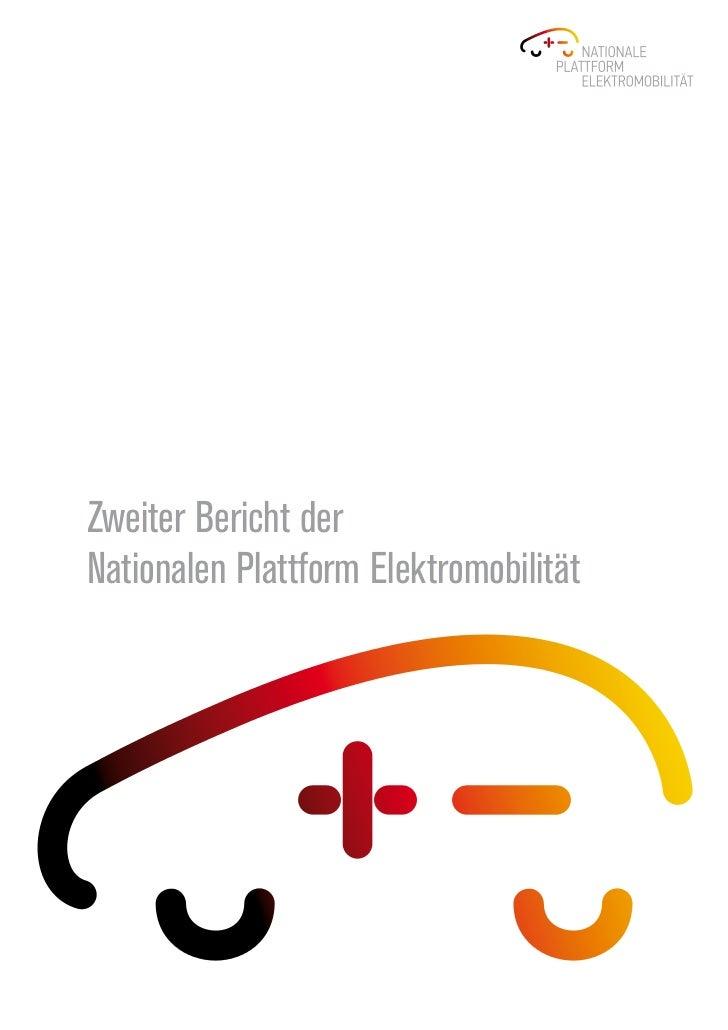 Zweiter Bericht derNationalen Plattform Elektromobilität