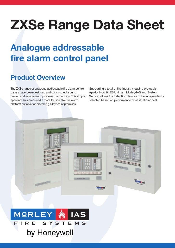 ZXSe Range Data SheetAnalogue addressablefire alarm control panelProduct OverviewThe ZXSe range of analogue addressable fire...