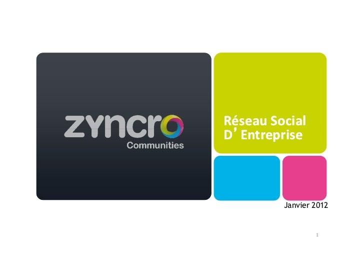 Réseau SocialD'Entreprise         Janvier 2012                 1