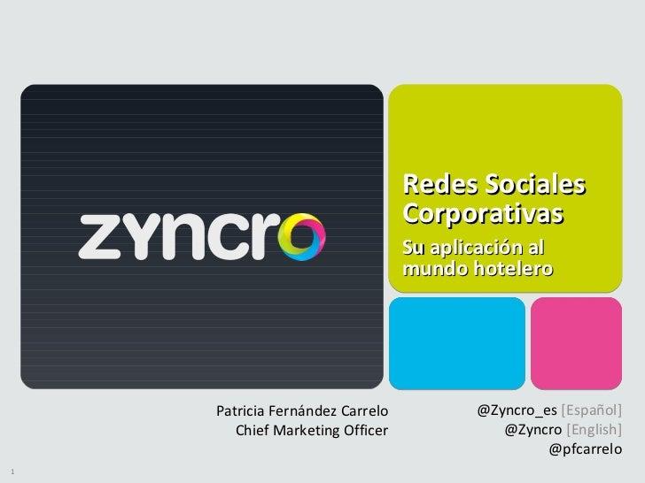 Aplicación de Zyncro para Hoteles 2.0
