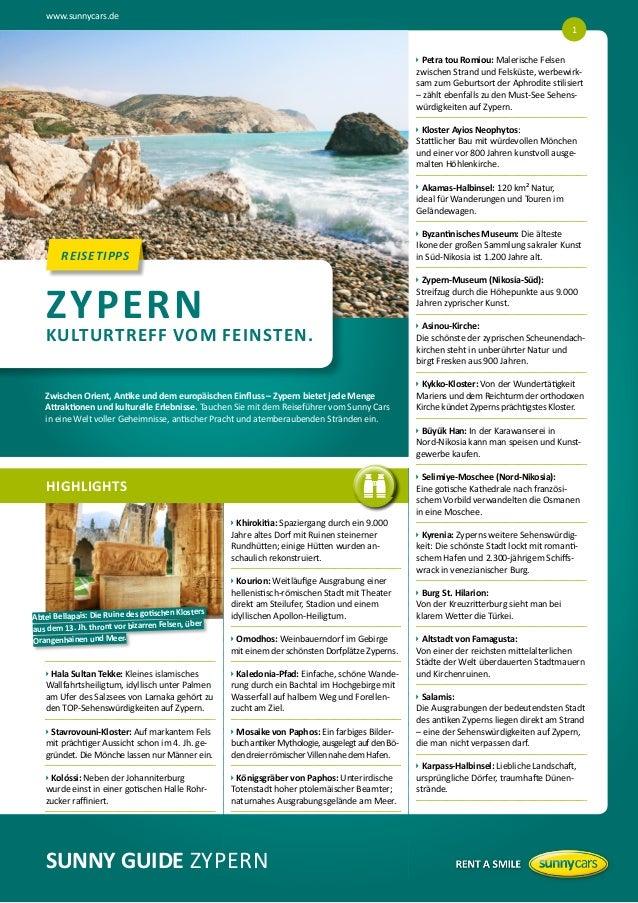 www.sunnycars.de 1   etra tou Romiou: Malerische Felsen  P zwischen Strand und Felsküste, werbewirksam zum Geburtsort de...