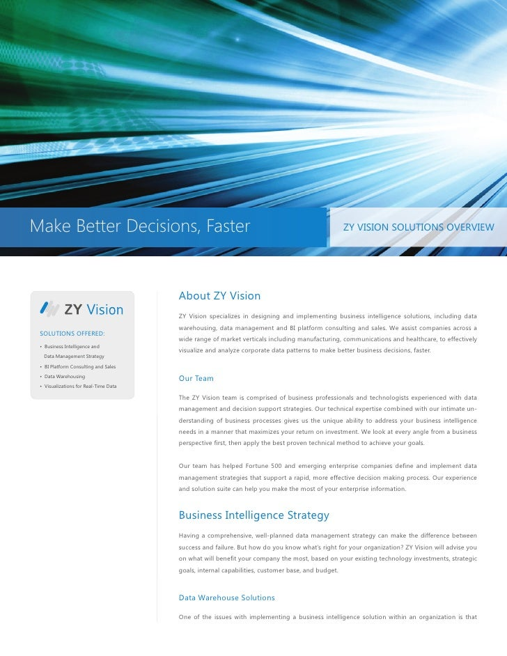 Zy Vision Solutions Overview