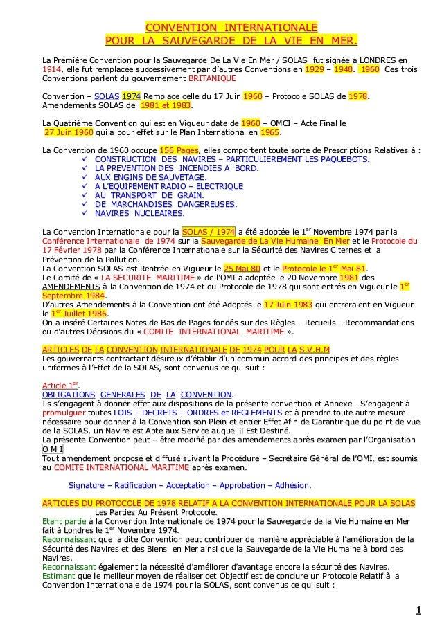 11 CCOONNVVEENNTTIIOONN IINNTTEERRNNAATTIIOONNAALLEE PPOOUURR LLAA SSAAUUVVEEGGAARRDDEE DDEE LLAA VVIIEE EENN MMEERR.. LLa...